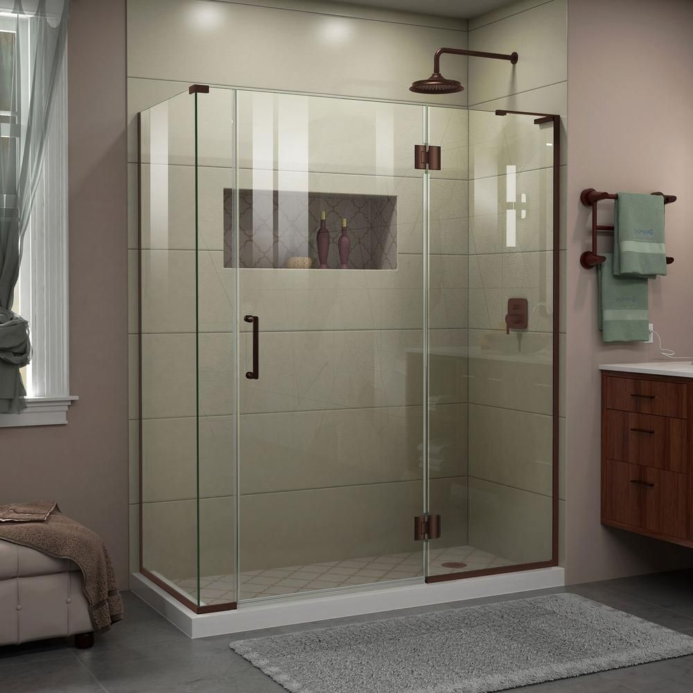 Dreamline Unidoor X 58 In W X 30 3 8 In D X 72 In H Frameless