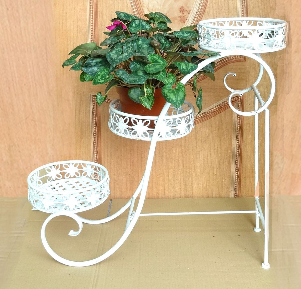 Wrought Iron Flower Garden Flower Pots Shelf Single Room Balcony Flower Wholesale Flower Bed Frame 2 China Mainla Flower Stands Flower Pots Flower Pot Garden
