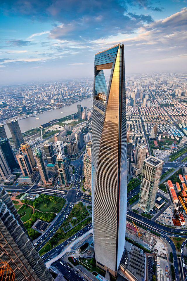 World Financial Center Shanghai World Financial Center Is The Lujiazui Finance And Trade Skyscraper Architecture Futuristic Architecture Creative Architecture