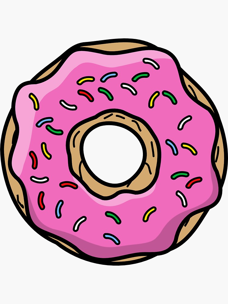 Simpson Donut Sticker By Labellatherese Dibujos De Los Simpson Fondos De Los Simpsons Dibujos