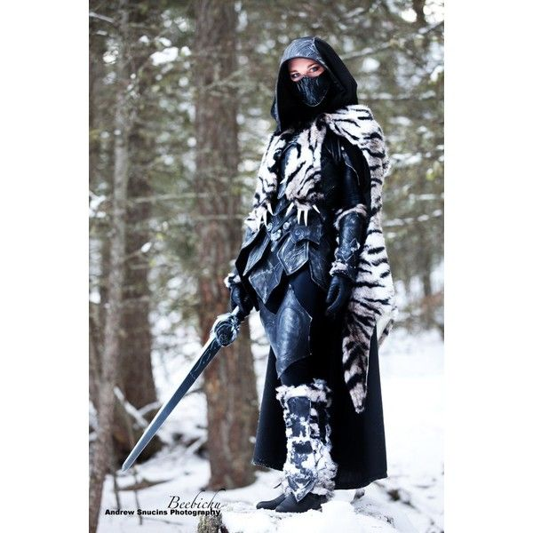 SKYRIM Nightingale Armor Cosplay GeekTyrant ❤ liked on Polyvore featuring costumes, role play costumes, cosplay costumes and cosplay halloween costumes