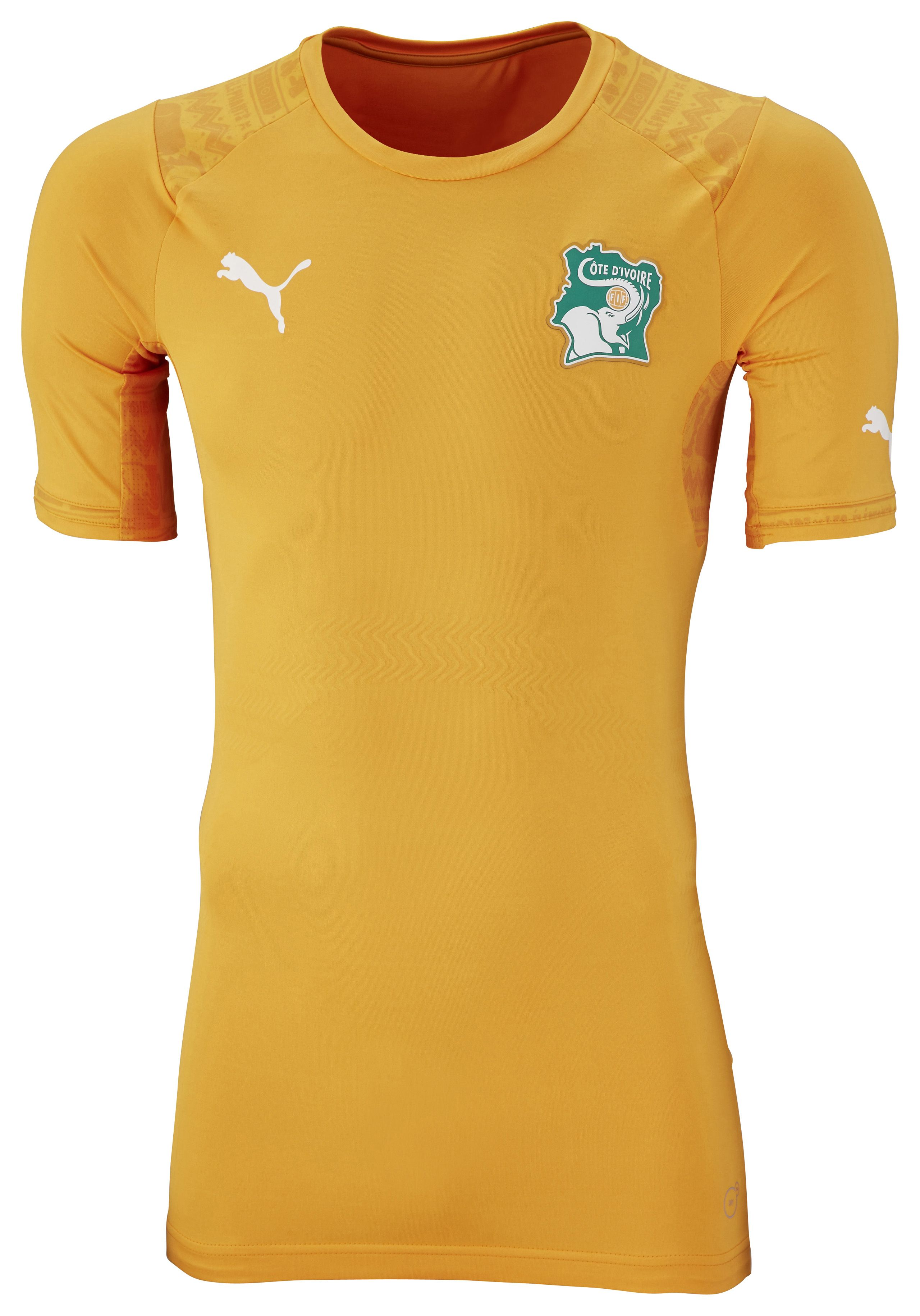 e5819ee8803 Ivory Coast World Cup jersey 2014 (Puma) | Casacas De Fútbol | World ...