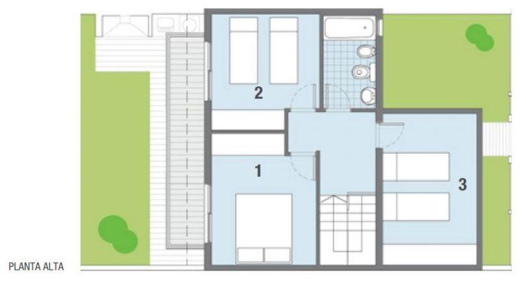 Plano de casa de 90 metros cuadrados 2 plantas home Casas modernas 80 metros cuadrados