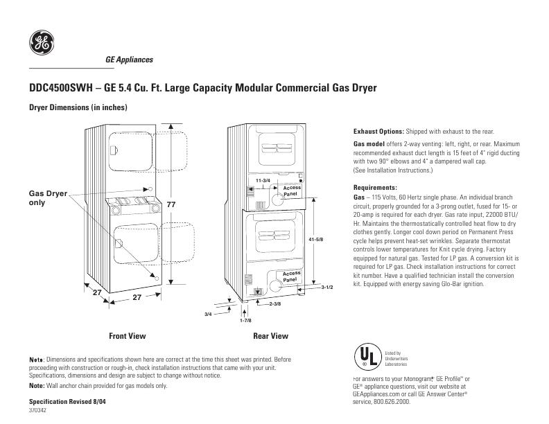 Ge Electric Dryer Capacities Blow Dryers Electric Dryers Stackable Washer Stackable Washer And Dryer