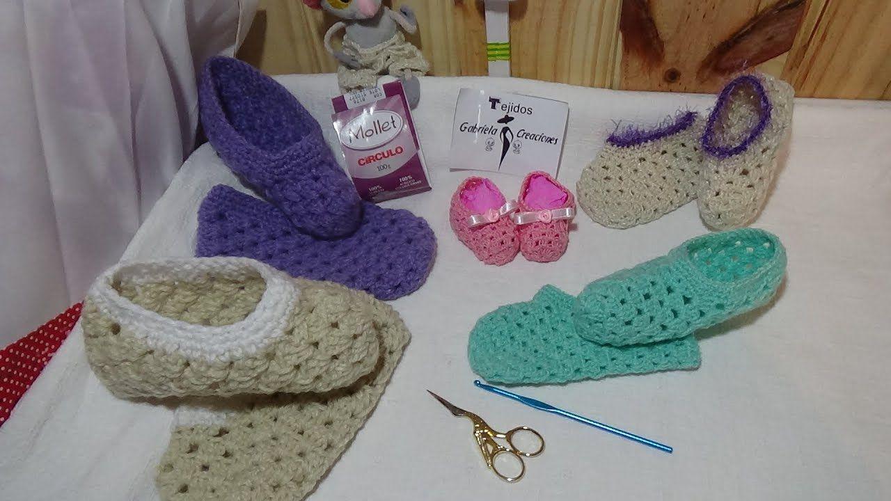 Pantuflas Todas Las Tallas En Crochet
