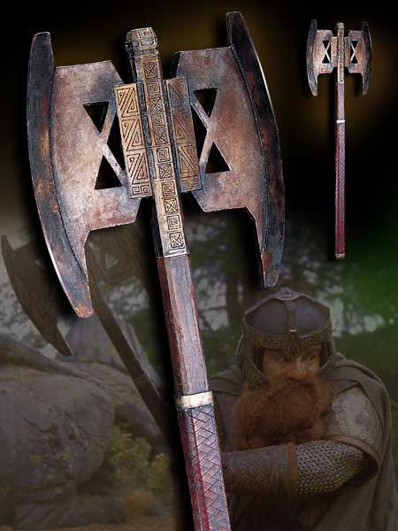 Hacha de Combate de Gimli El Señor de los Anillos realizada por Noble Collection