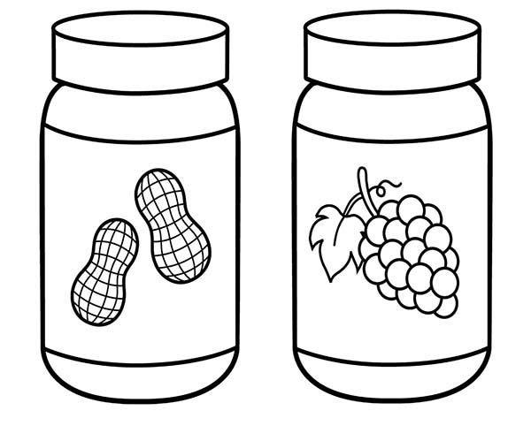 Peanut Butter And Jelly Coloring Page Actividades Del Alfabeto En Preescolar Actividades Del Alfabeto Frascos