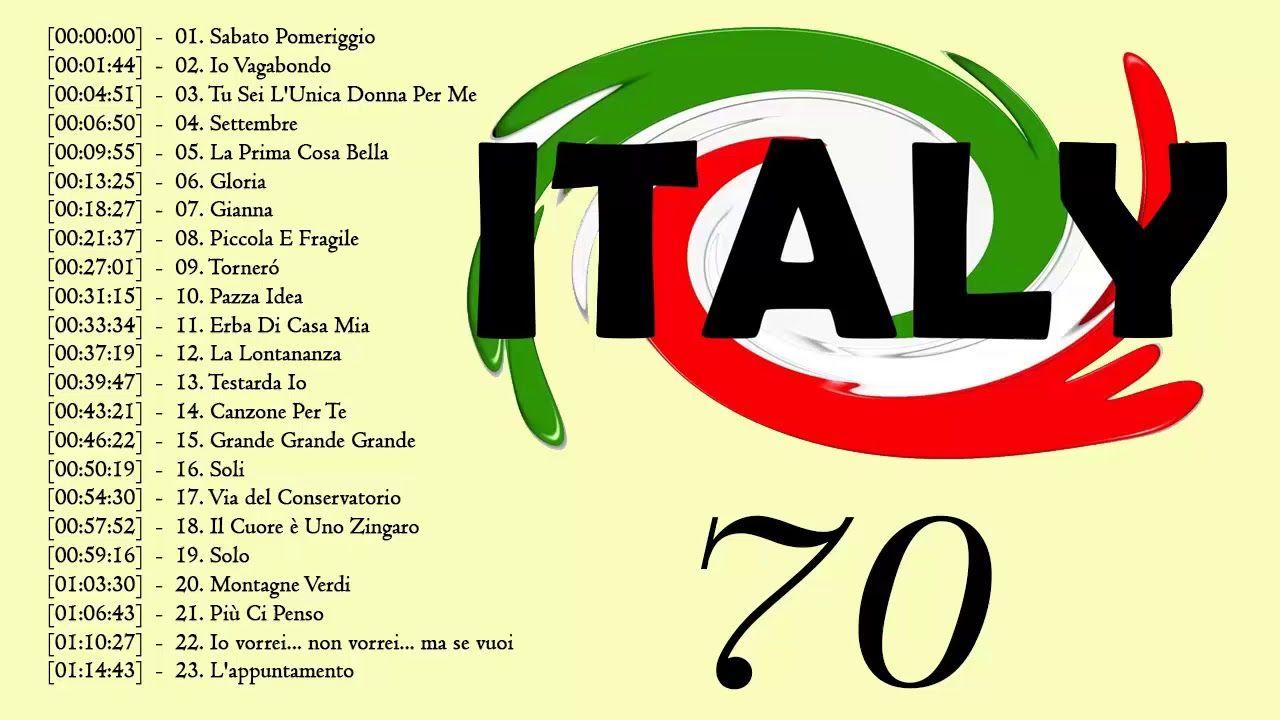 Italian Music 70's Le Più Belle Canzoni Italiane Di
