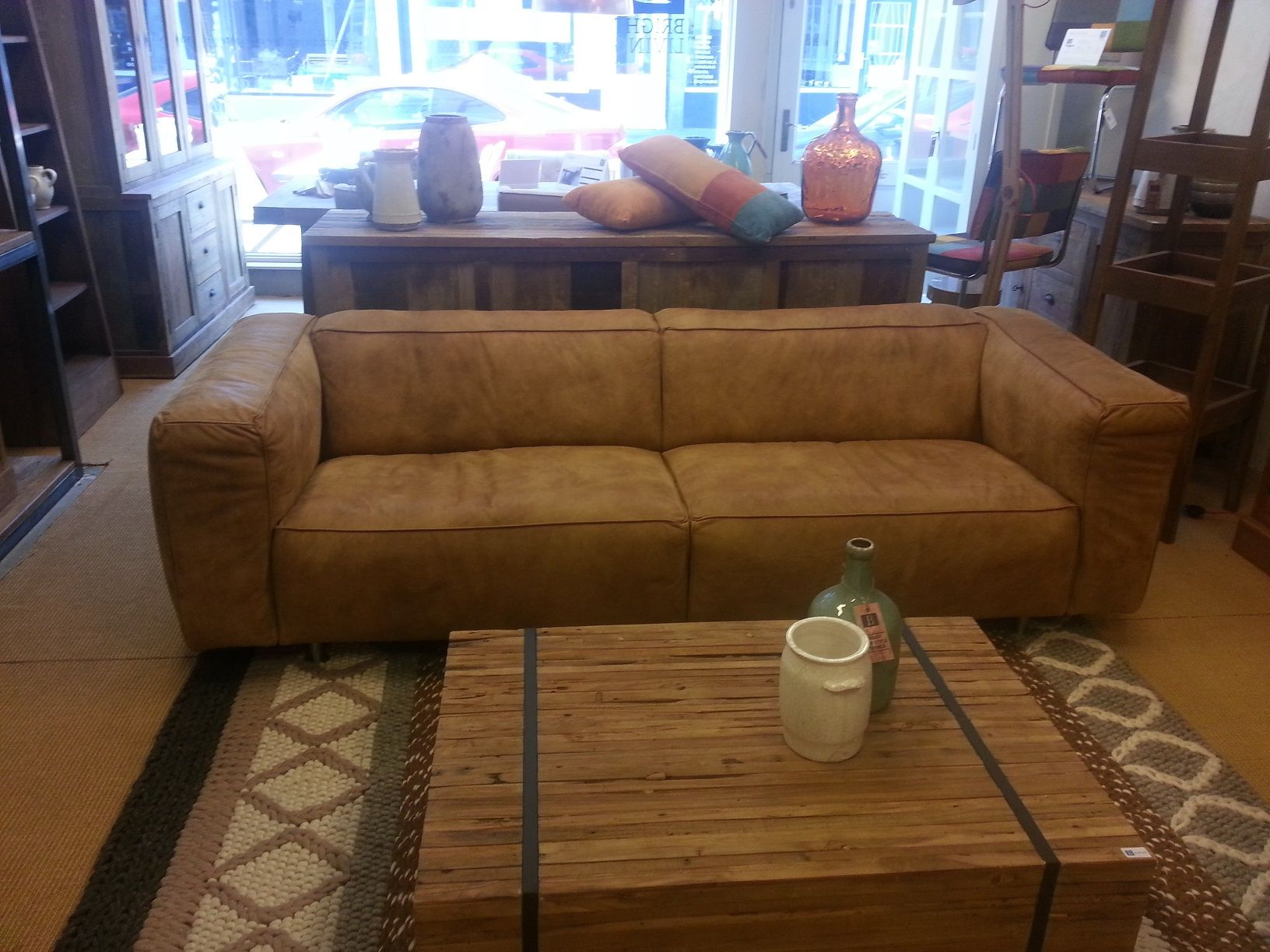 Cartelliving replay bank 3 sits in kenia montana leer cognac