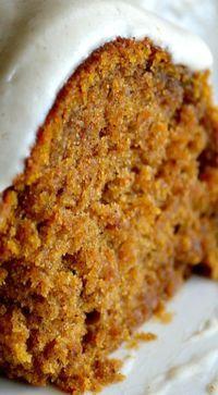 Pumpkin Spice Buttermilk Cake with Cinnamon Cream