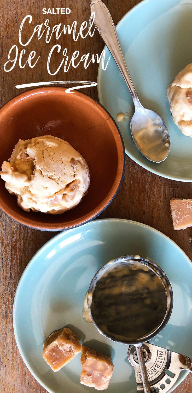 Homemade salted caramel ice cream no machine receita