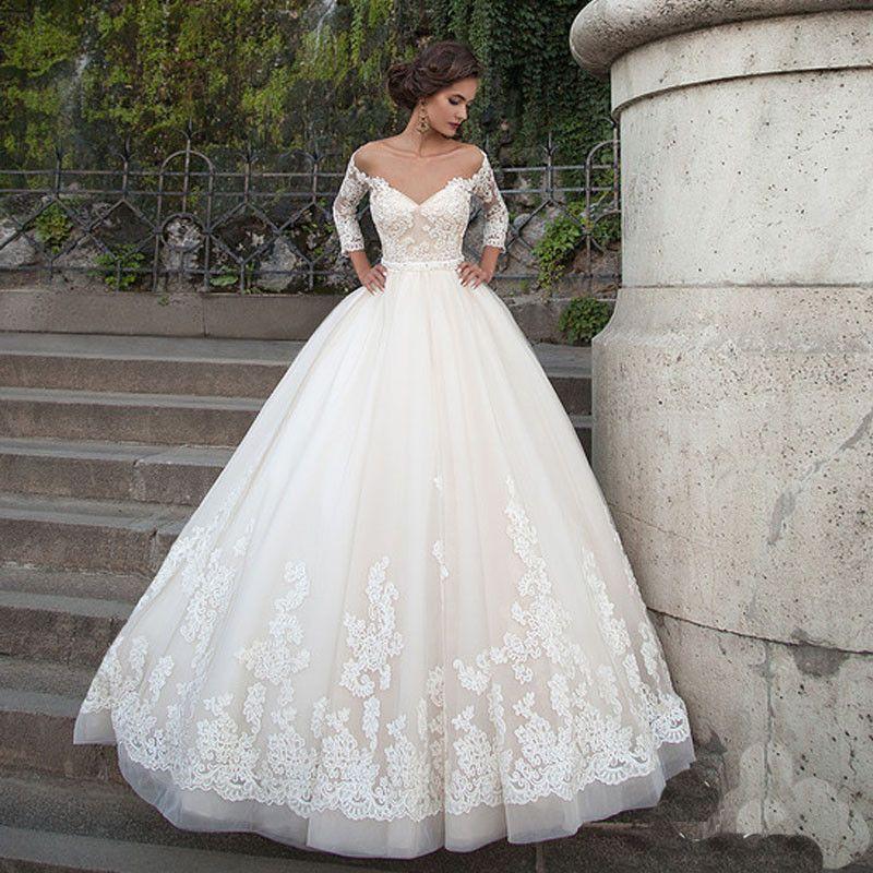 Vestido De Noiva De Renda Wedding Dress 2017 Elegant Bridal Gowns ...