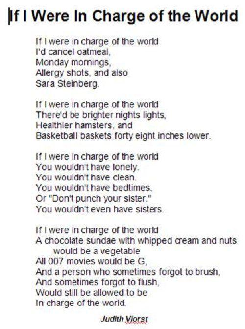 judith viorst poems | Actual Poem Adapted Poem Sample | Viorst ...