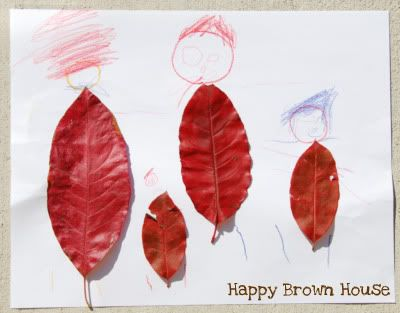 """Fall Leaf People from Totally Tots {and other activities to go along with """"The Leaf Man"""""""