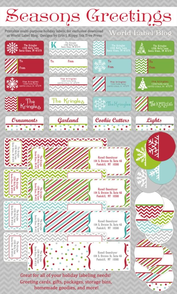 Free Printable Holiday Address Labels Worldlabel Blog Christmas Return Address Labels Christmas Address Labels Free Printable Christmas Address Labels