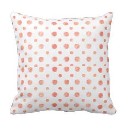 Peach pots Throw Pillow