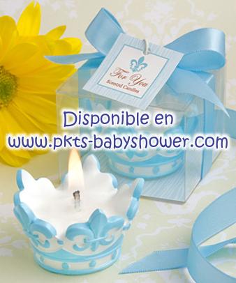 Recuerdos para Baby Shower - Corona Azul - Disponible en www.pkts-babyshower.com