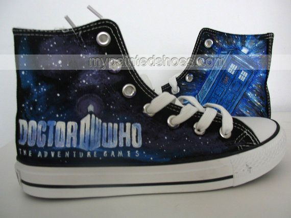 1b776b97412f Doctor Who Shoes Doctor Who Hand Painted Canvas  Shoes