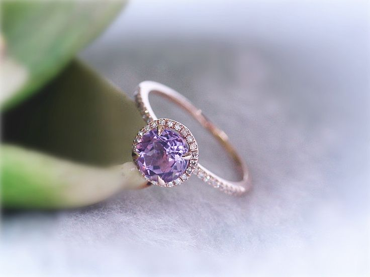 Lavender Amethyst Engagement Ring Amethyst Ring Engagement