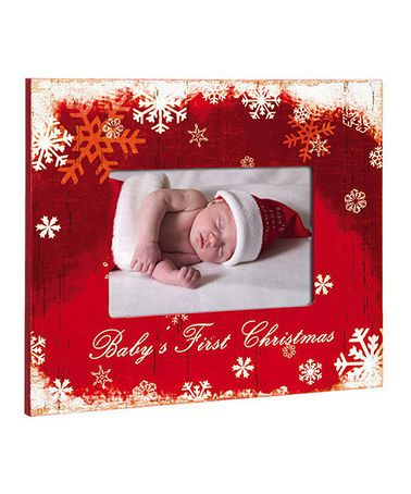 Another great find on #zulily! Red  White \u0027Baby\u0027s First Christmas