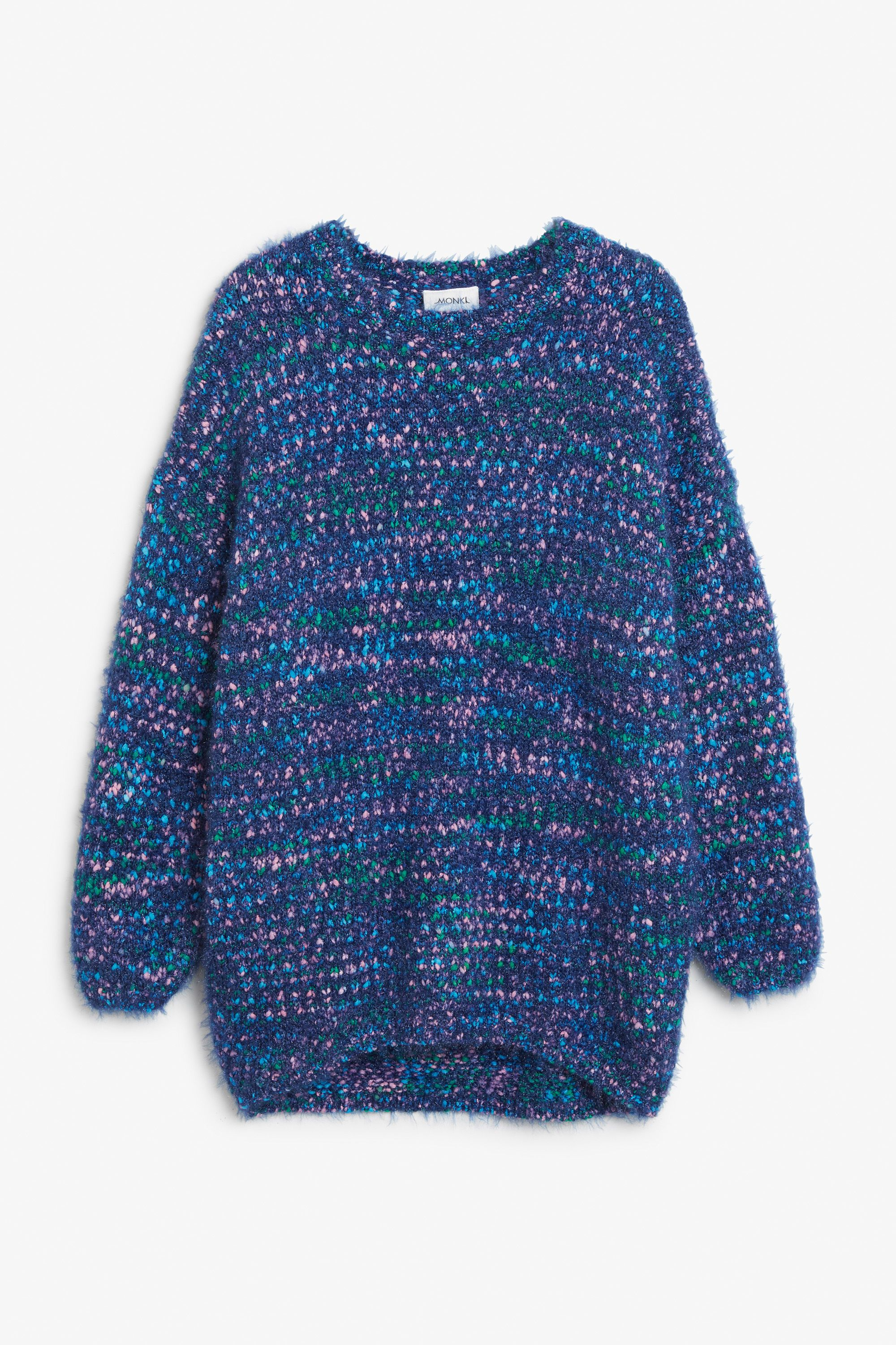 Fluffy glitter sweater - Electric blue/multi-mix - Knitwear ...