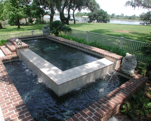 rectangle swimming pool in charleston sc with water features - Rectangle Pool With Water Feature