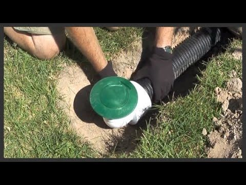 The Importance Of Pop Up Drain Emitters Landscape Drainage Backyard Drainage Backyard Landscaping