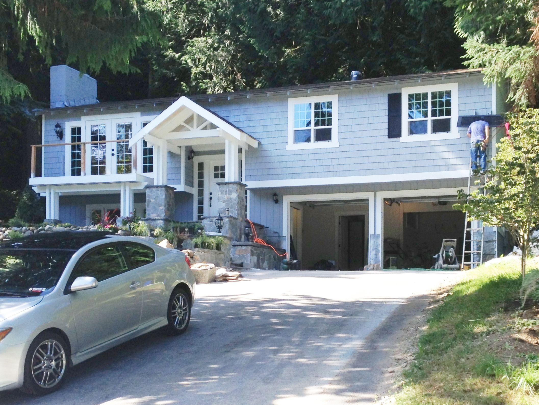 Split Level House Transformed Craftsman Style