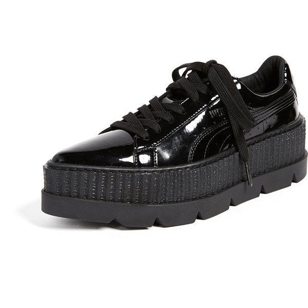 black shiny puma trainers - 58% OFF