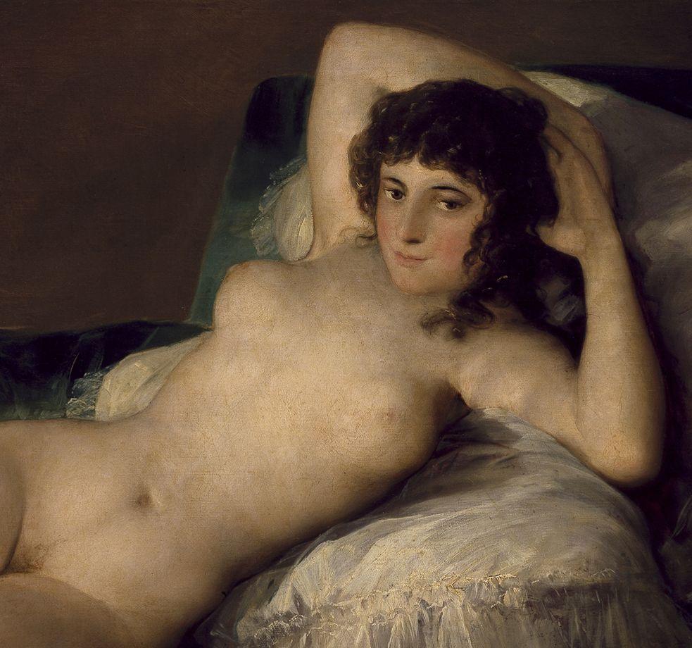 Francisco De Goya La Maja Desnuda Detail Goya Art Painting