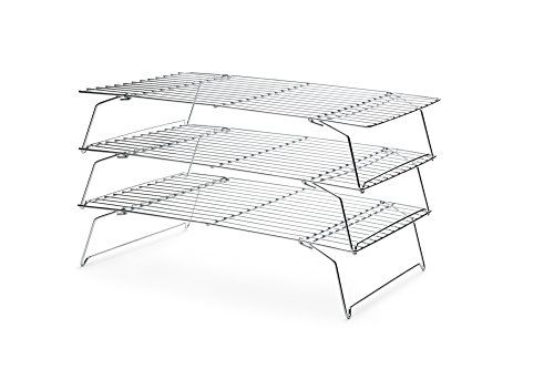 Fox Run 4698 Stackable Cooling Rack Set Chrome 3 Piece Cooling
