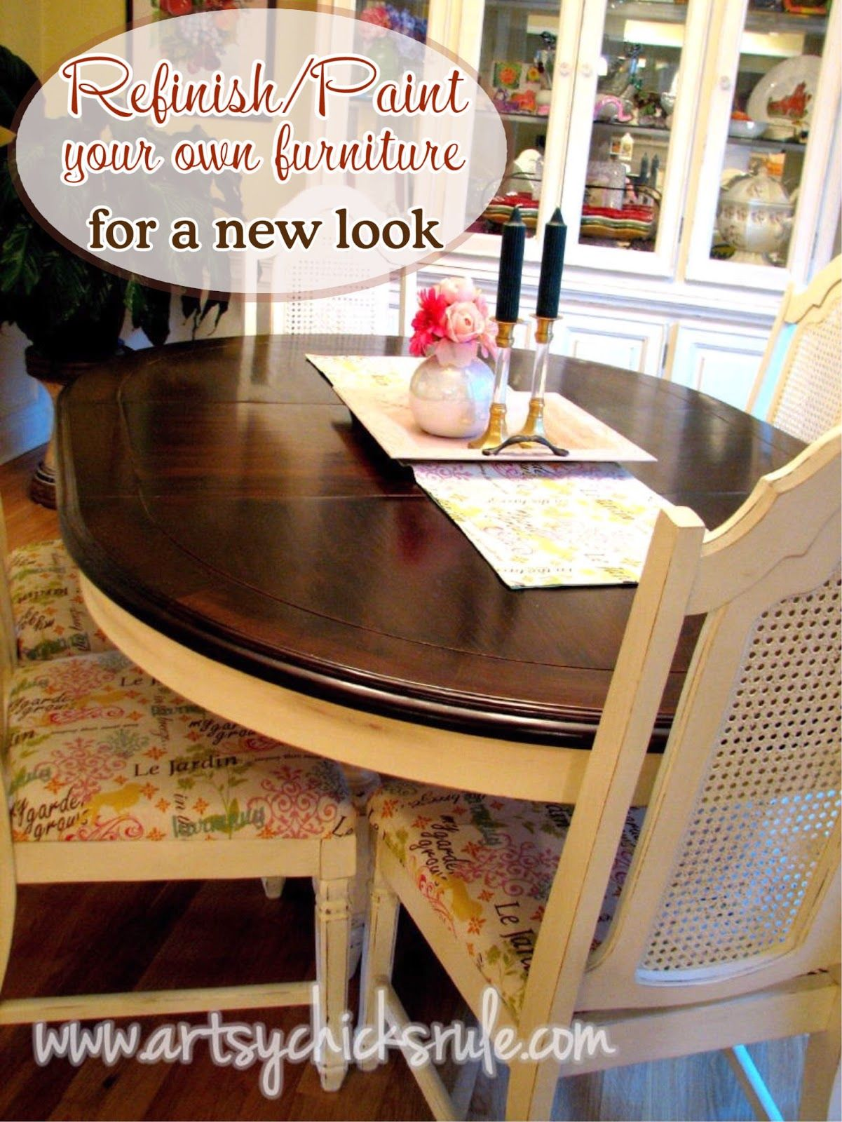 Refinish Paint Your Own Furniture For A Brand New Look Artsy Chicks Rule