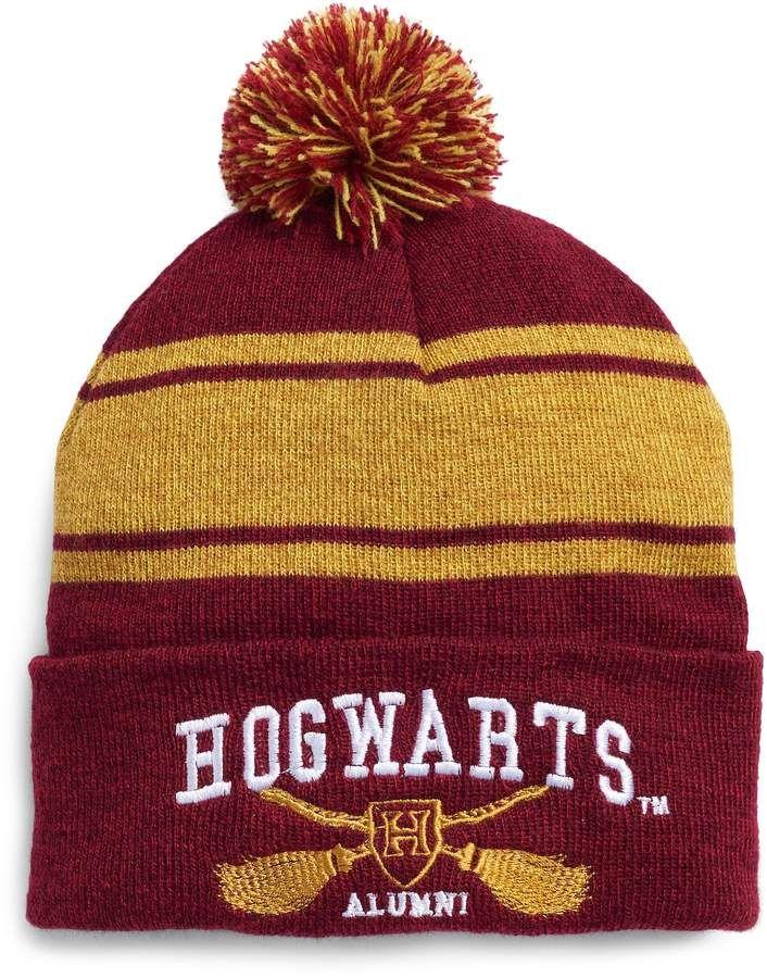 a805e631 Women's Harry Potter Striped Hogwarts Varsity Knit Beanie   Harry ...