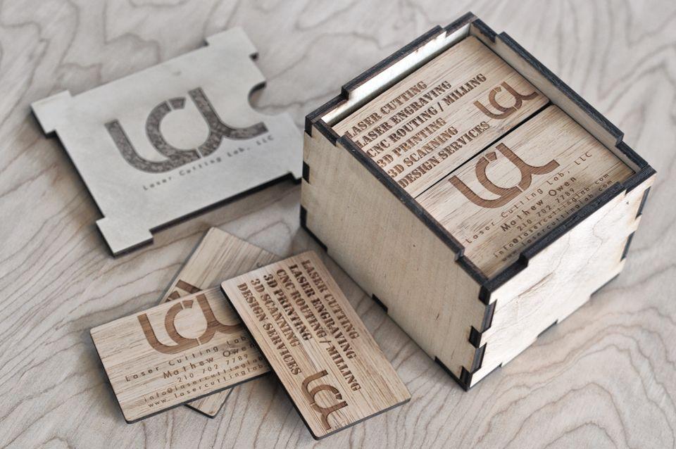Laser Engraved Bamboo Business Cards | namecard | Pinterest ...