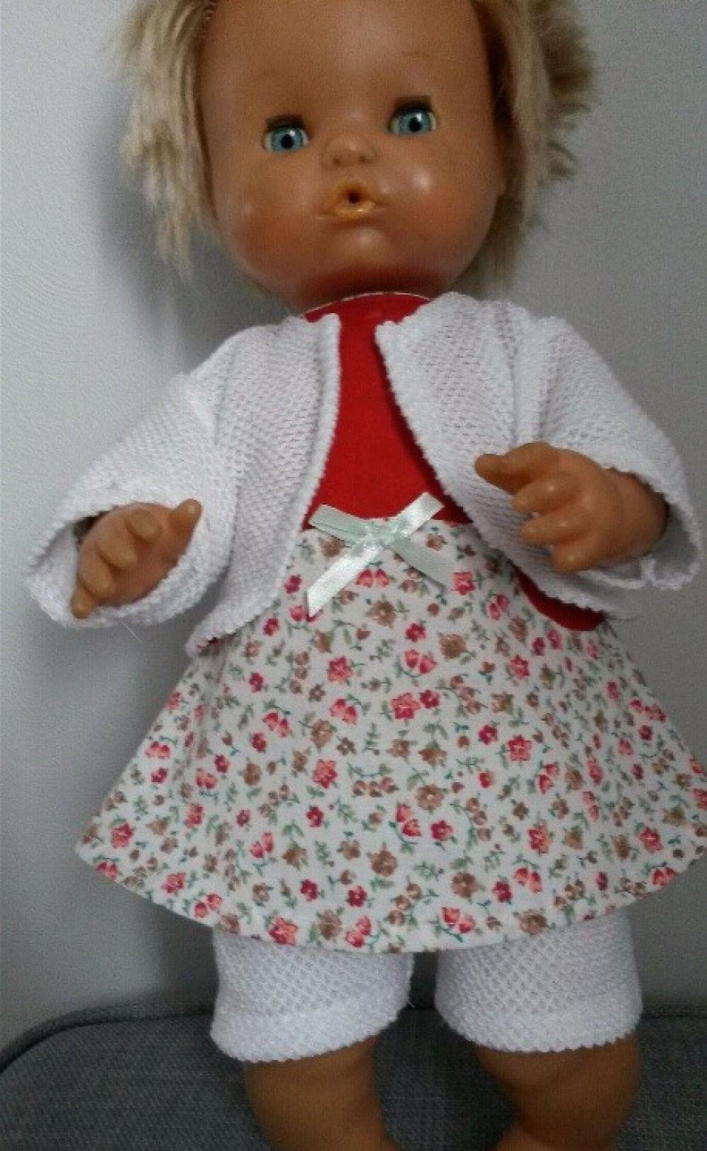 cb796f703cfbd Vêtement de poupon 36 a 40 cm ensemble gilet robe pantacourt ...