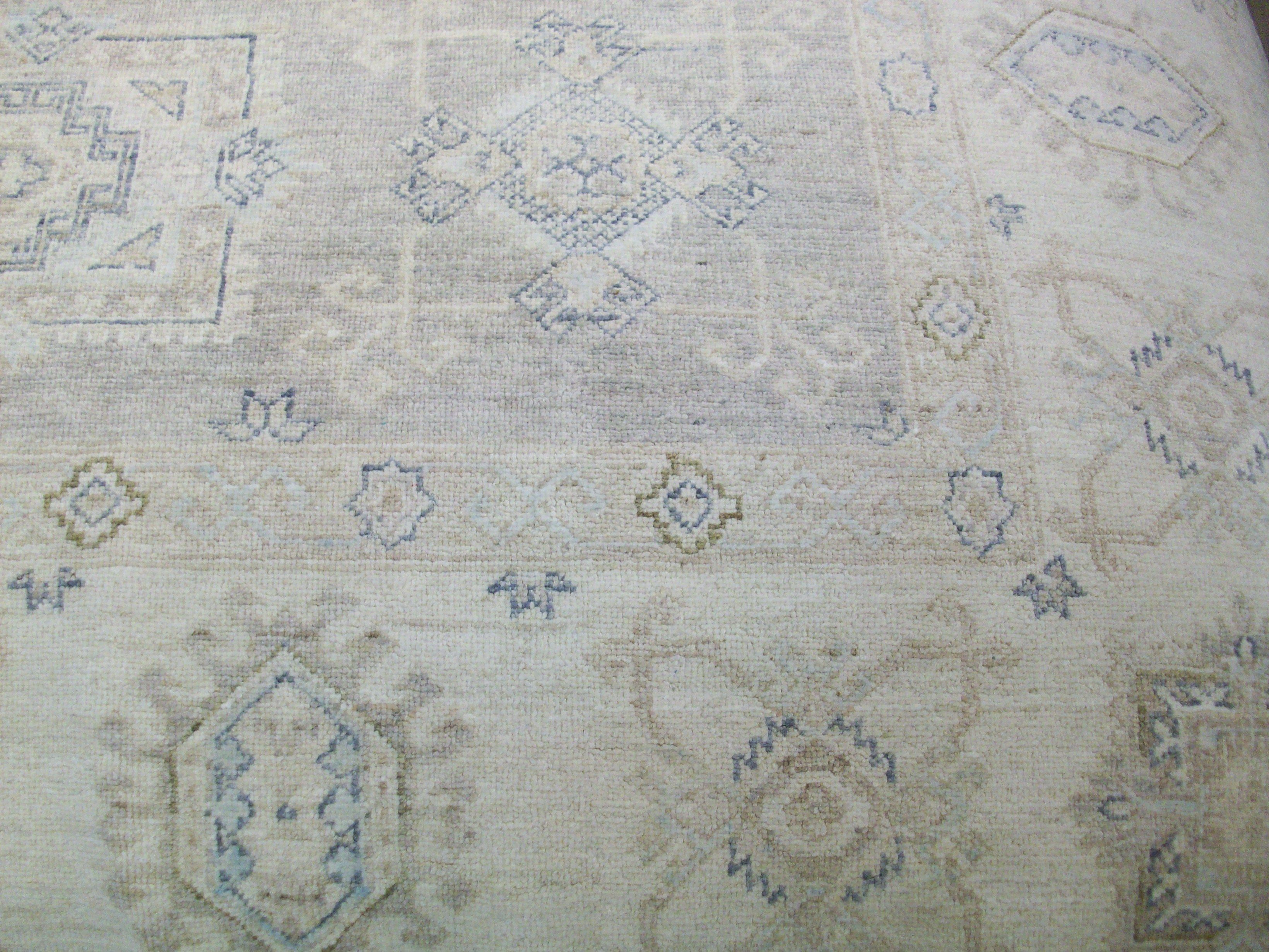 100 Wool Hand Knotted Rug Geometric Design Ivory Blue Tan Beige Light Blue Navy Rugs Rug Store 8x10 Rugs