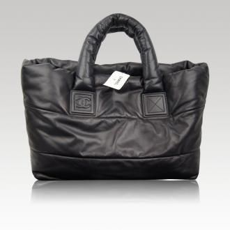 b4622e9ec4e6 Chanel Coco Cocoon Black Leather Reversible Shopping Tote Bag | Bags ...