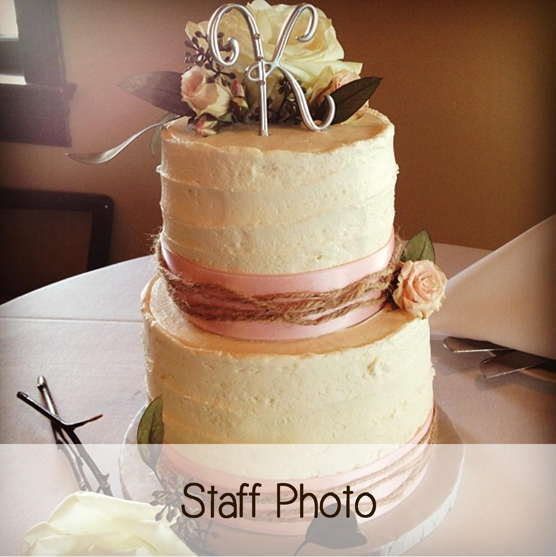 A Rustic Looking Cake For An Intimate Wedding By Special Delivery Cakes