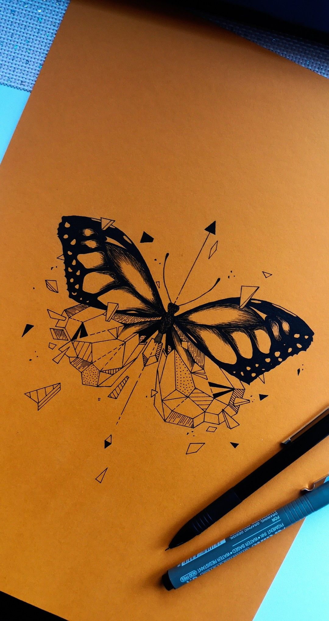Photo of Butterfly drawing