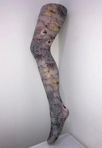 Calzedonia Nowe Rajstopy Kolorowe W Kwiaty M L 3 4 8455232599 Oficjalne Archiwum Allegro Legging Fashion Tattoos