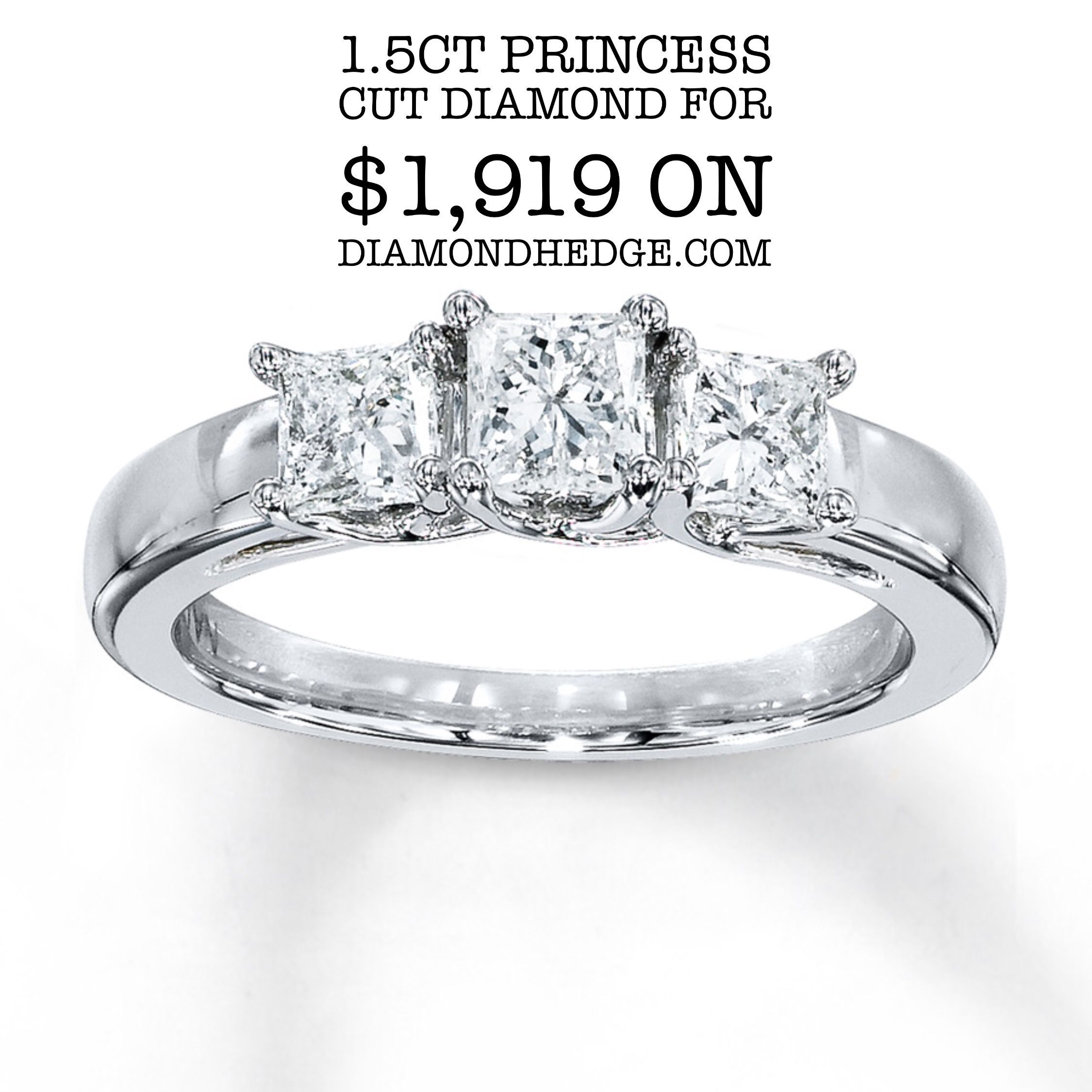 f8367b9f51a05 1.5ct Princess cut diamond for $1,919 on DiamondHedge.com for a ...