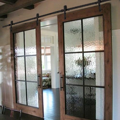 2pcs 6 6ft Modern Carbon Steel Barn Sliding Wood Door Hardware Antique Track Set Barn Style Doors Glass Barn Doors My Dream Home