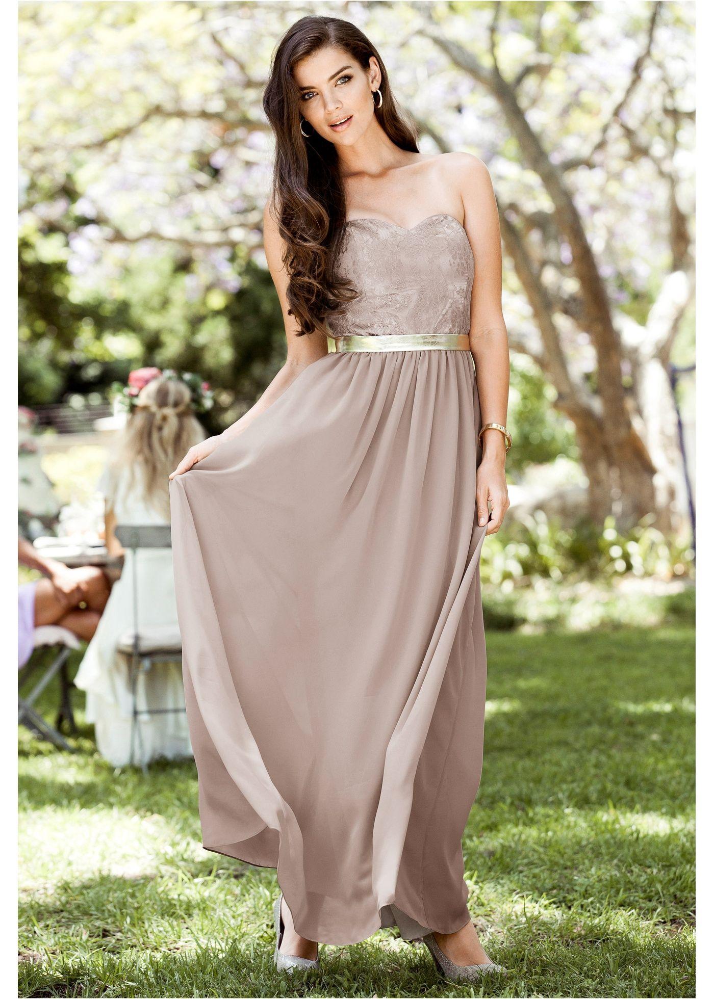 Kleid natur gold bodyflirt jetzt im online shop von ab 64 99 bestellen schickes - Bonprix festliche kleider ...