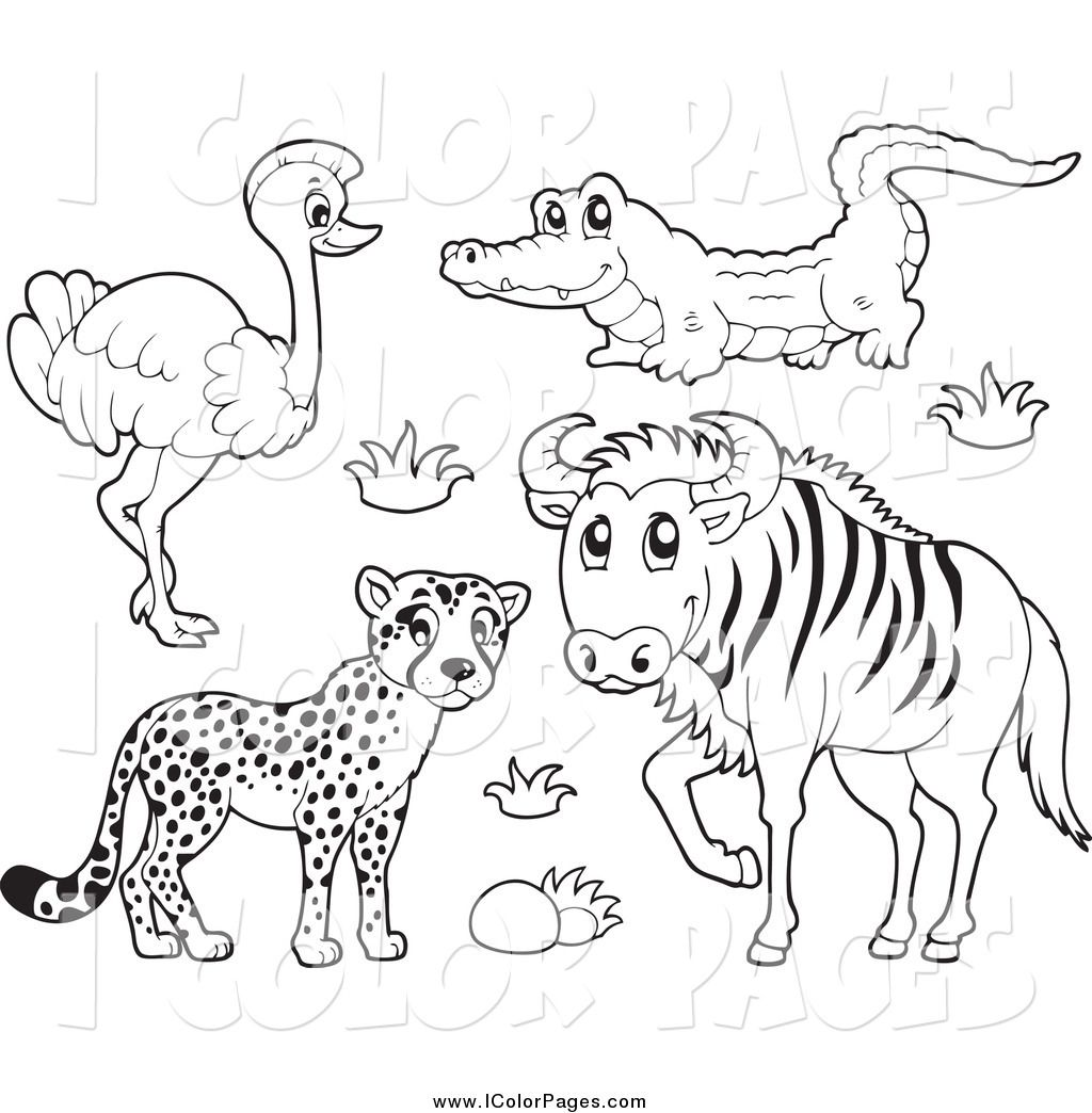 Pygmy Hippopotamus Animal Coloring Pages Coloring Pages