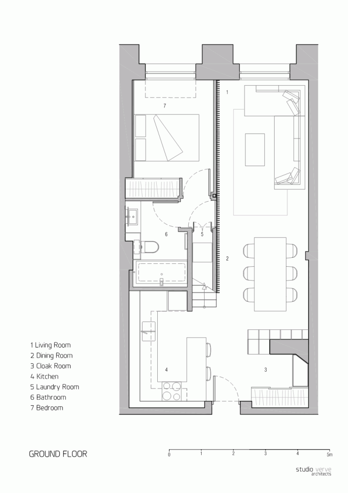 Apartment At Bow Quarter Studio Verve Architects Small Apartment Plans House Layouts Container House Plans