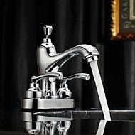 Chrome Finish Centerset Two Handles Brass Bathroom Sink Faucet Save up to 80% Off at Light in the Box with Coupon and Promo Codes.