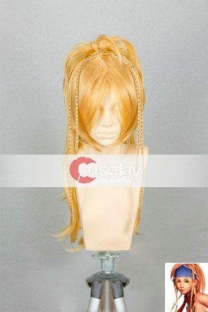 High Temperature Fiber Final Fantasy Rikku Cosplay Wig