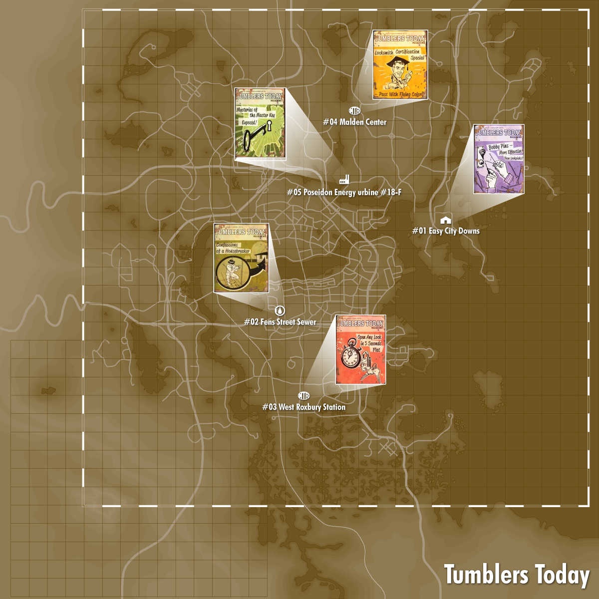 Tumblers Today Locations Fallout 4 Magazines Fallout 4 Map Fallout 4 Locations