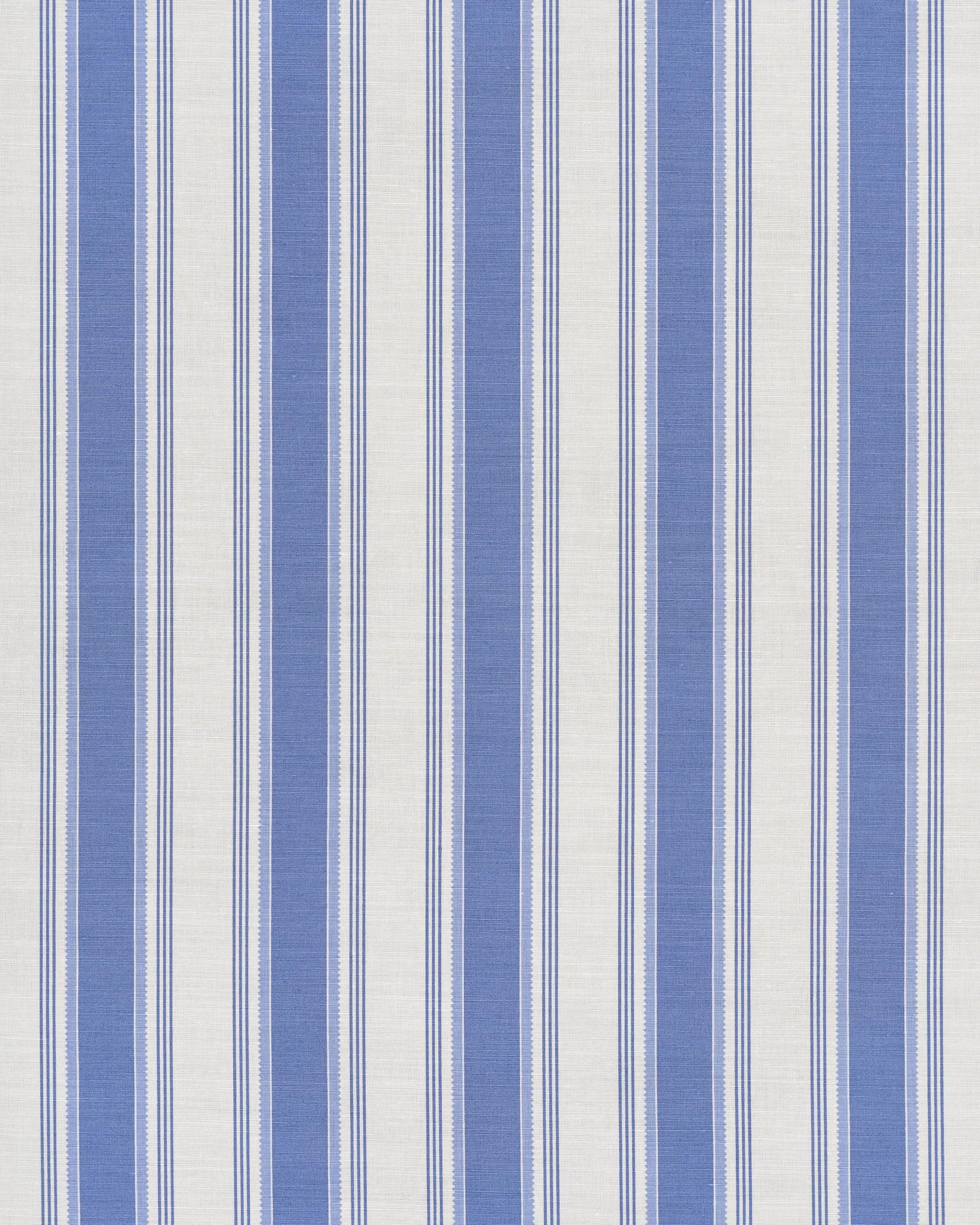 Pavilion Stripe Mid Blue on Oyster Boy's room, Fabric
