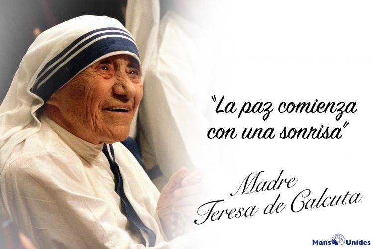 Frase De Reflexión Sobre Las Sonrisas De Madre Teresa De Calcuta Teresa De Calcuta Frases Madre Teresa Frases De La Madre Teresa